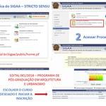 Como acessar o Edital 01/2018 - Seleção 2019 PPGAU